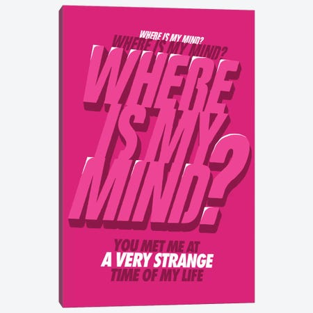 Where is my Mind Canvas Print #BBY41} by Butcher Billy Canvas Art Print