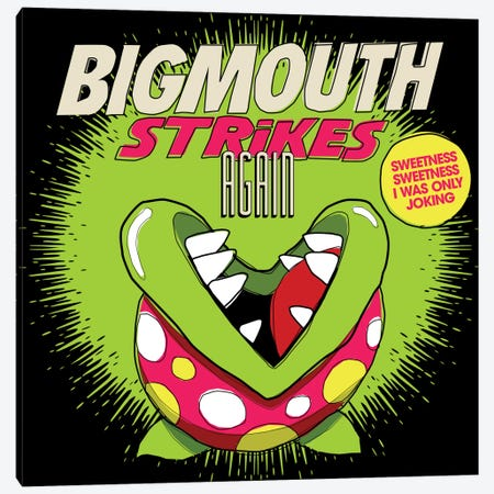 8-bit Smiths Project - Bigmouth Strikes Again Canvas Print #BBY44} by Butcher Billy Canvas Art