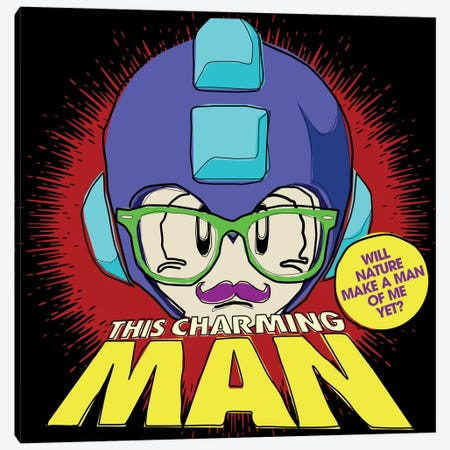 8-bit Smiths Project - This Chaming Mega Man 3-Piece Canvas #BBY49} by Butcher Billy Canvas Print