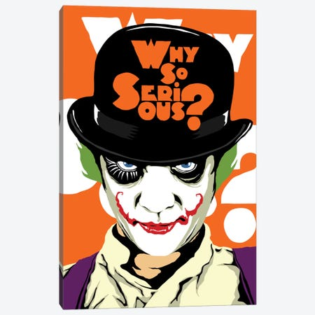 A Clockwork Joker Canvas Print #BBY50} by Butcher Billy Canvas Artwork