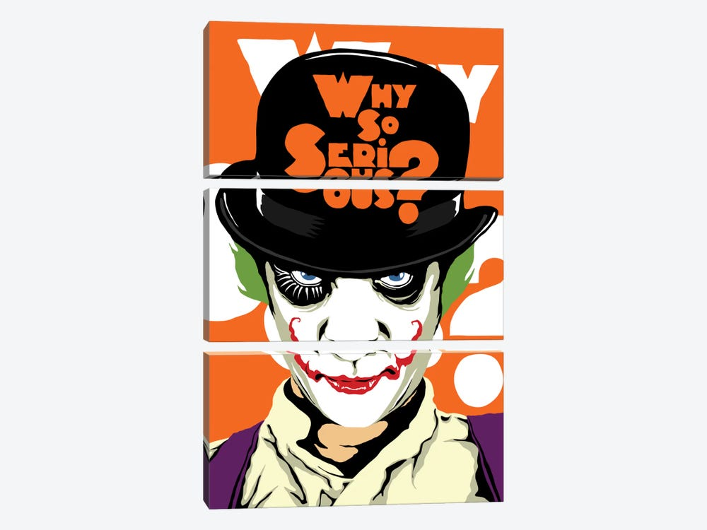 A Clockwork Joker by Butcher Billy 3-piece Canvas Artwork