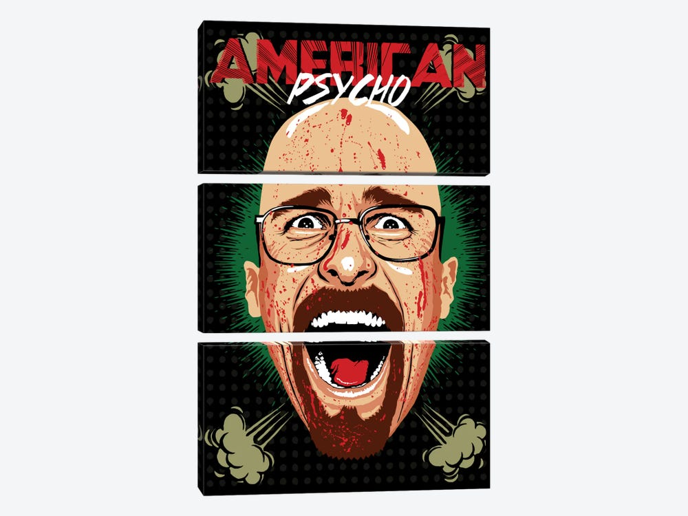 American Psycho - Breaking Bad Edition by Butcher Billy 3-piece Canvas Print