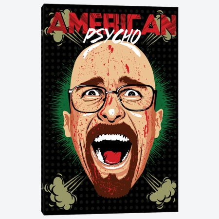 American Psycho - Breaking Bad Edition Canvas Print #BBY51} by Butcher Billy Canvas Wall Art