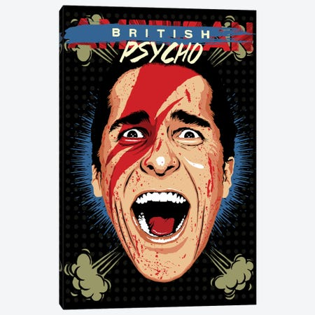 American Psycho - British Edition Canvas Print #BBY52} by Butcher Billy Canvas Art