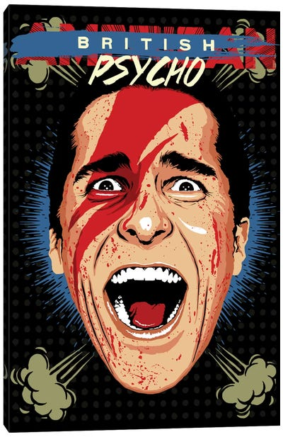 American Psycho - British Edition Canvas Print #BBY52