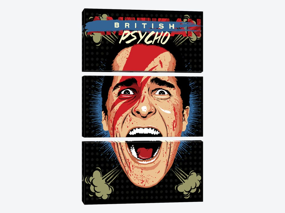 American Psycho - British Edition by Butcher Billy 3-piece Canvas Wall Art