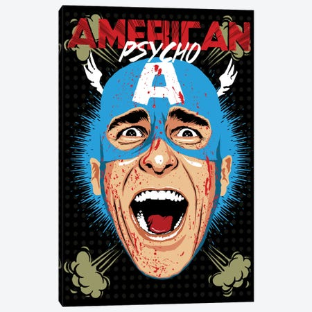 American Psycho - Cap Edition Canvas Print #BBY53} by Butcher Billy Canvas Wall Art