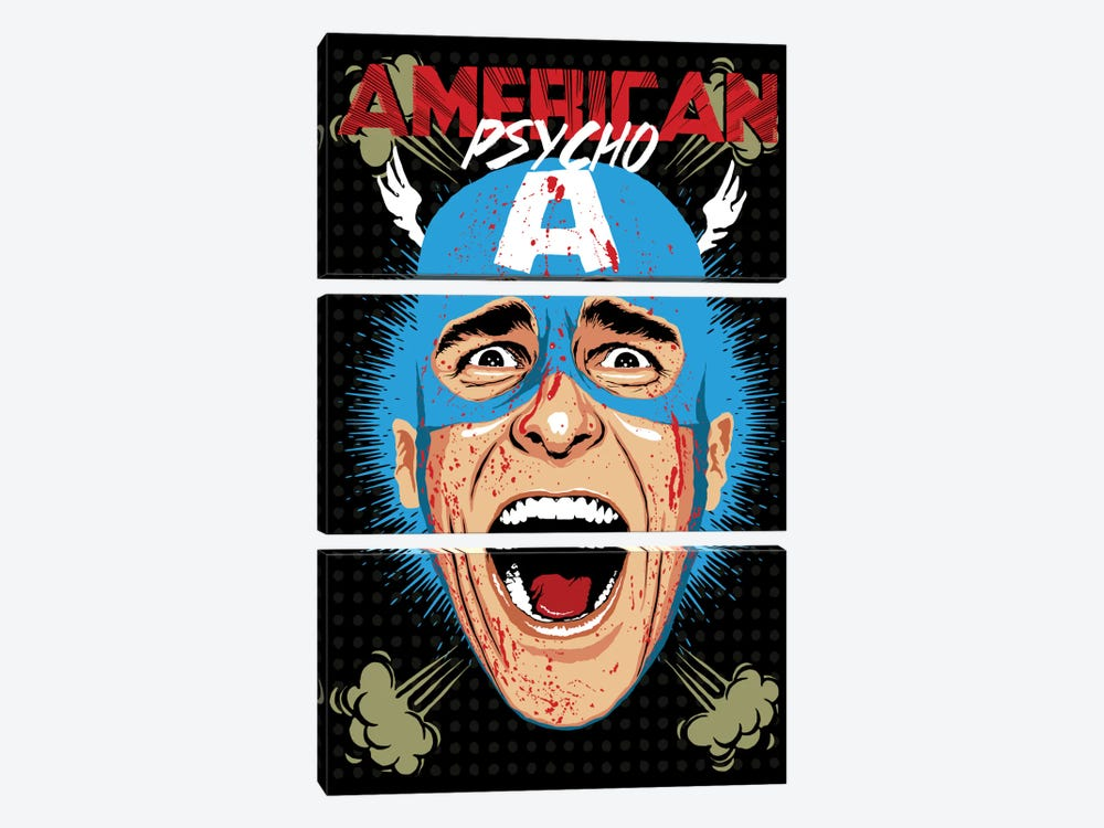 American Psycho - Cap Edition by Butcher Billy 3-piece Art Print