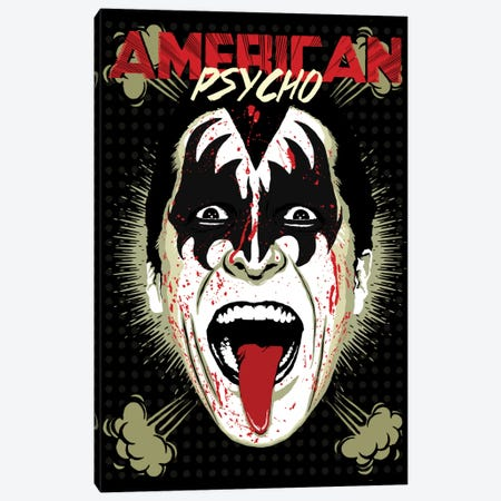 American Psycho - RocknRoll All Night Edition Canvas Print #BBY54} by Butcher Billy Art Print