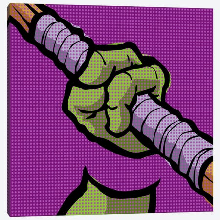 Roy's Pop Martial Art Chelonians - Purple Canvas Print #BBY60} by Butcher Billy Art Print