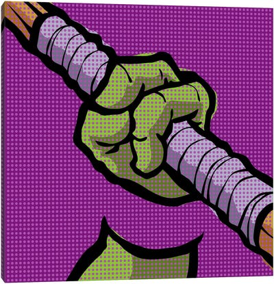 Roy's Pop Martial Art Chelonians - Purple Canvas Art Print
