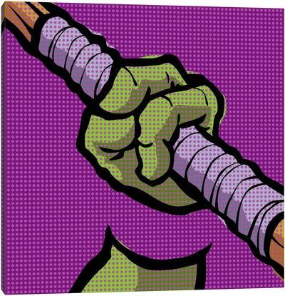 Roy's Pop Martial Art Chelonians - Purple Canvas Print #BBY60