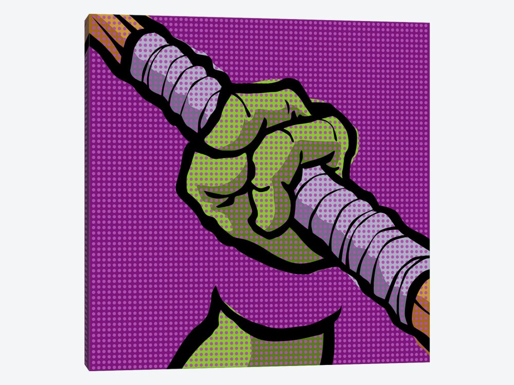 Roy's Pop Martial Art Chelonians - Purple by Butcher Billy 1-piece Art Print