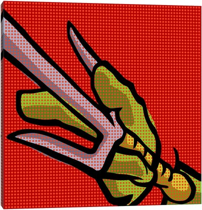 Roy's Pop Martial Art Chelonians - Red Canvas Print #BBY61