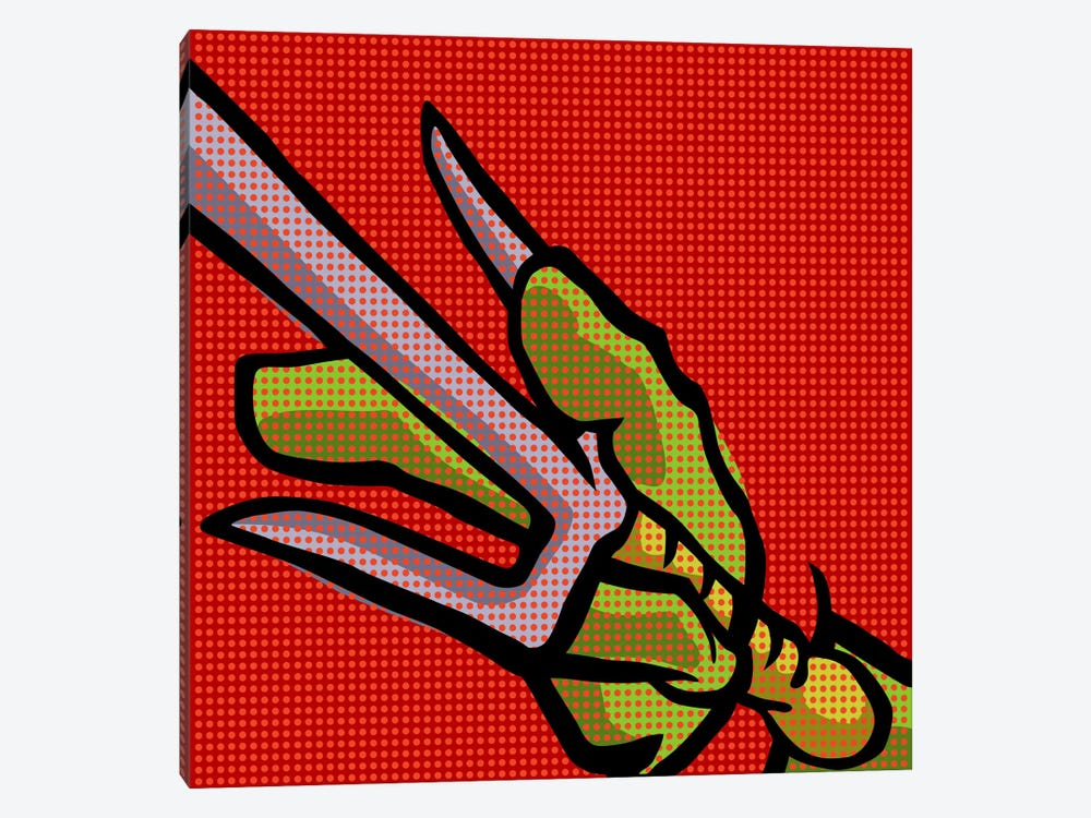 Roy's Pop Martial Art Chelonians - Red by Butcher Billy 1-piece Canvas Wall Art