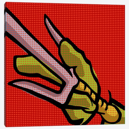 Roy's Pop Martial Art Chelonians - Red Canvas Print #BBY61} by Butcher Billy Canvas Print