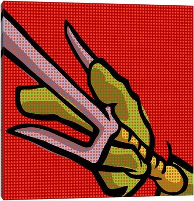 Roy's Pop Martial Art Chelonians - Red Canvas Art Print