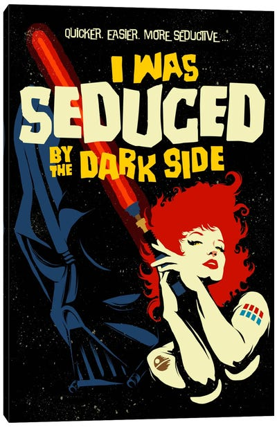 Seduced by the Dark Side Canvas Art Print