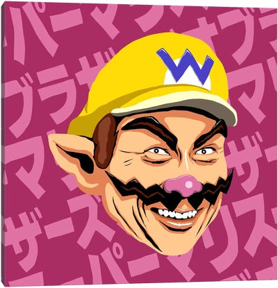 Shigeru Myiamoto Super Star - Wario Edition Canvas Print #BBY66
