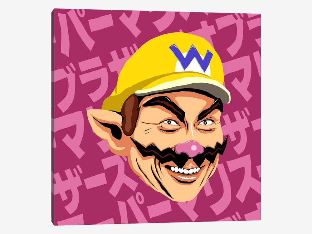 Shigeru Myiamoto Super Star - Wario Edition by Butcher Billy 1-piece Canvas Art Print