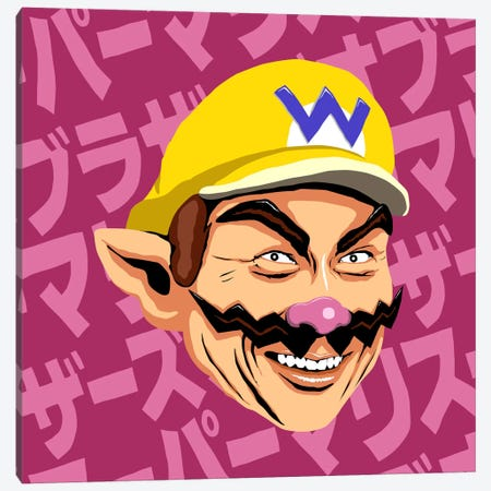 Shigeru Myiamoto Super Star - Wario Edition Canvas Print #BBY66} by Butcher Billy Canvas Wall Art