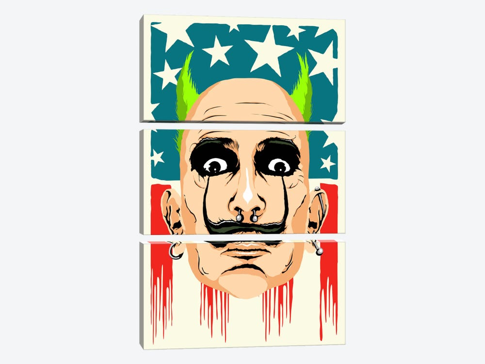 Smack my Dali Up by Butcher Billy 3-piece Canvas Wall Art
