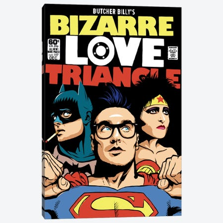Bizarre Love Triangle - The Post-Punk Edition Canvas Print #BBY6} by Butcher Billy Canvas Art Print