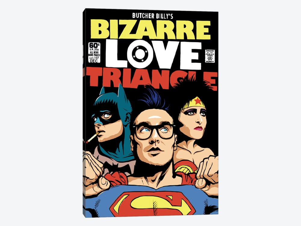 Bizarre Love Triangle - The Post-Punk Edition by Butcher Billy 1-piece Canvas Print