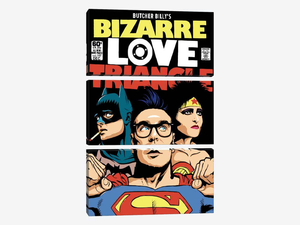Bizarre Love Triangle - The Post-Punk Edition 3-piece Canvas Print