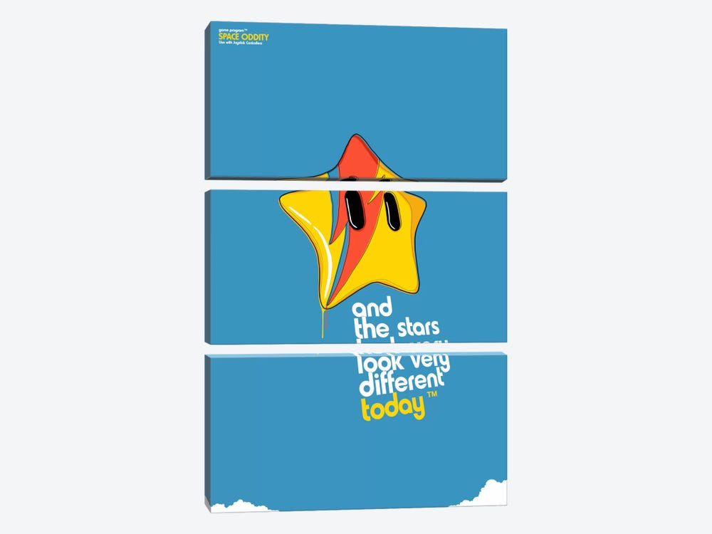 Space Oddity Game Program by Butcher Billy 3-piece Canvas Wall Art