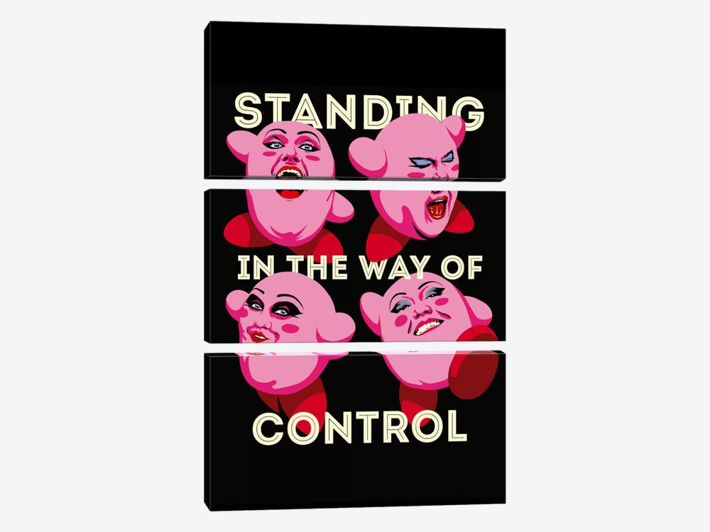 Standing in The Way of Control by Butcher Billy 3-piece Canvas Artwork