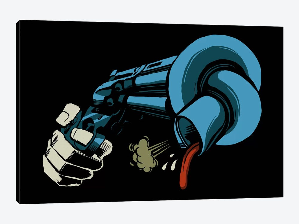 The Crooked Gun by Butcher Billy 1-piece Canvas Art