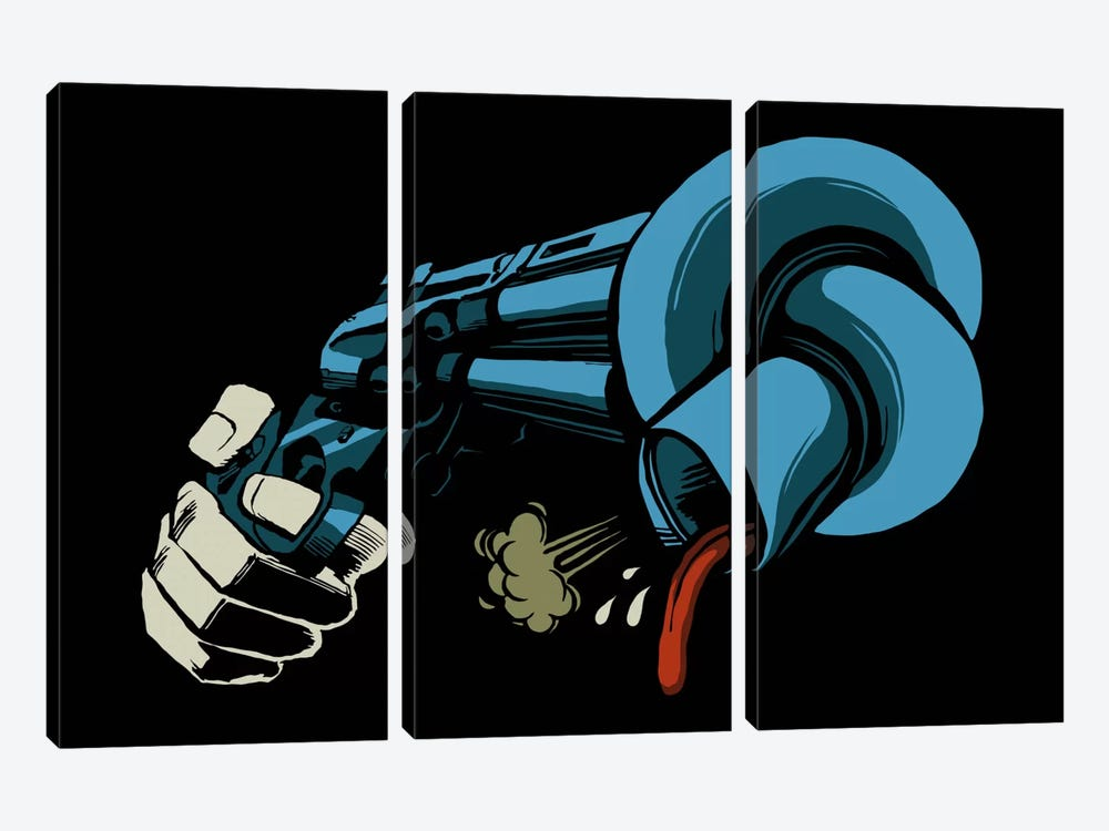 The Crooked Gun by Butcher Billy 3-piece Canvas Art