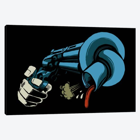 The Crooked Gun Canvas Print #BBY76} by Butcher Billy Canvas Art Print