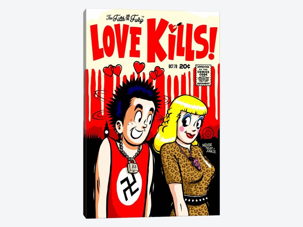 The Filth and The Fury - Love Kills by Butcher Billy 1-piece Canvas Art
