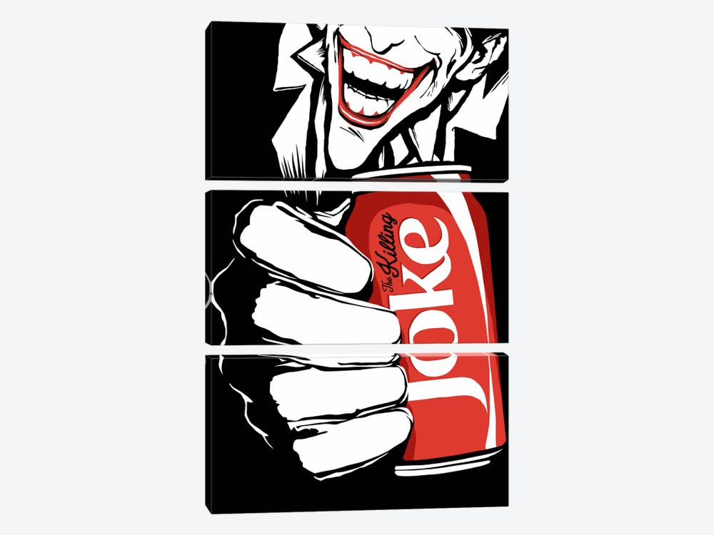 The Killing Joke - The B&W Edit by Butcher Billy 3-piece Canvas Art Print