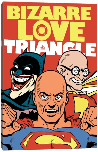 Bizarre Love Triangle Canvas Art Print