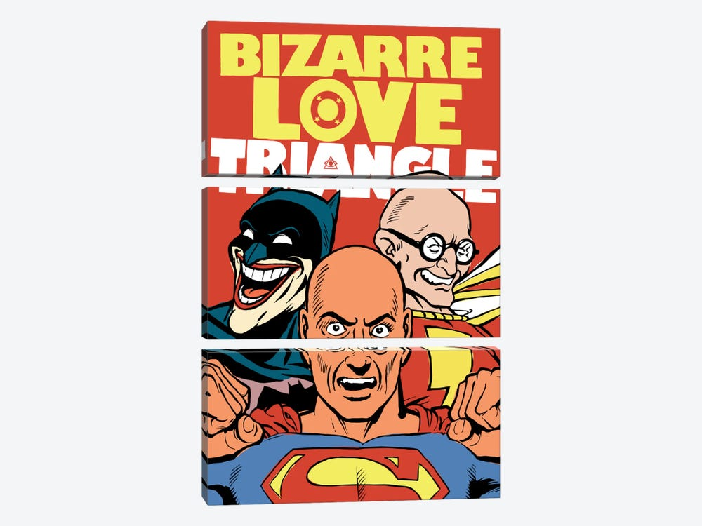 Bizarre Love Triangle 3-piece Canvas Wall Art