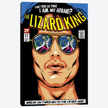 The Lizard King Canvas Print #BBY81} by Butcher Billy Canvas Art Print