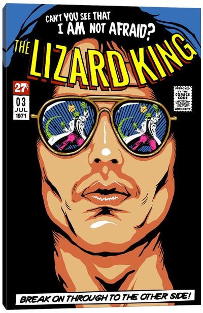 The Lizard King Canvas Art Print