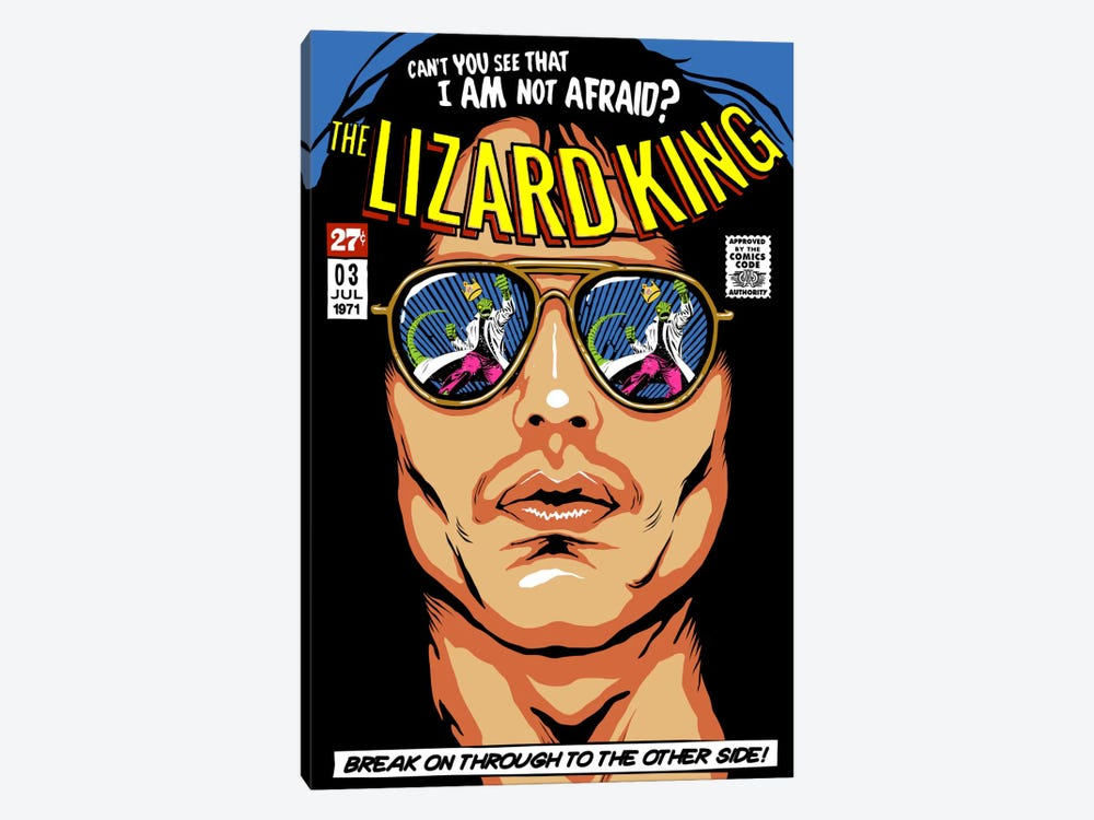 The Lizard King by Butcher Billy 1-piece Canvas Wall Art
