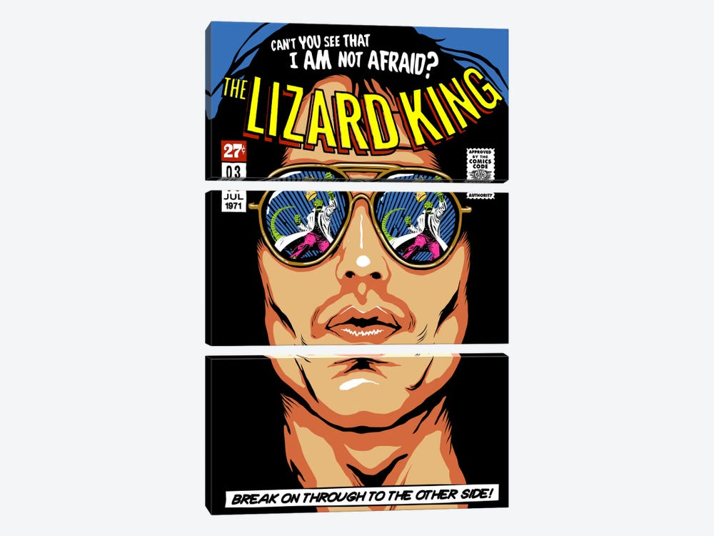 The Lizard King by Butcher Billy 3-piece Canvas Wall Art