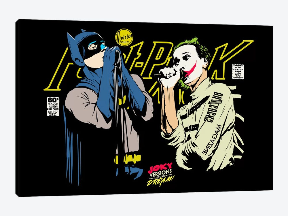 The Post-Punk Face-Off by Butcher Billy 1-piece Canvas Art