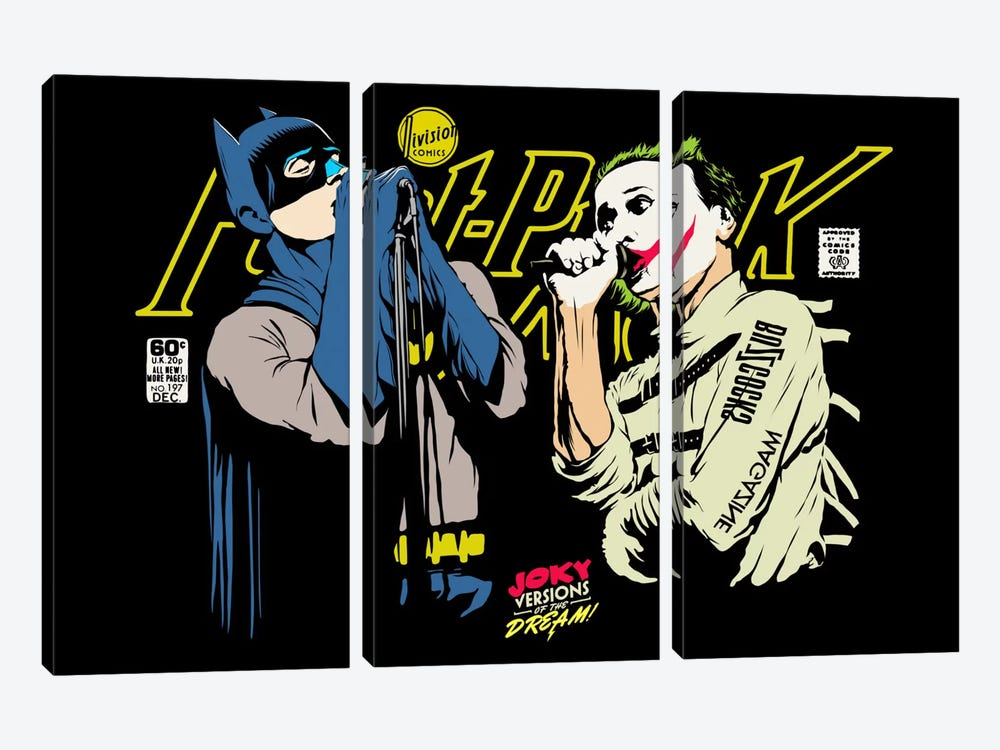The Post-Punk Face-Off by Butcher Billy 3-piece Canvas Art