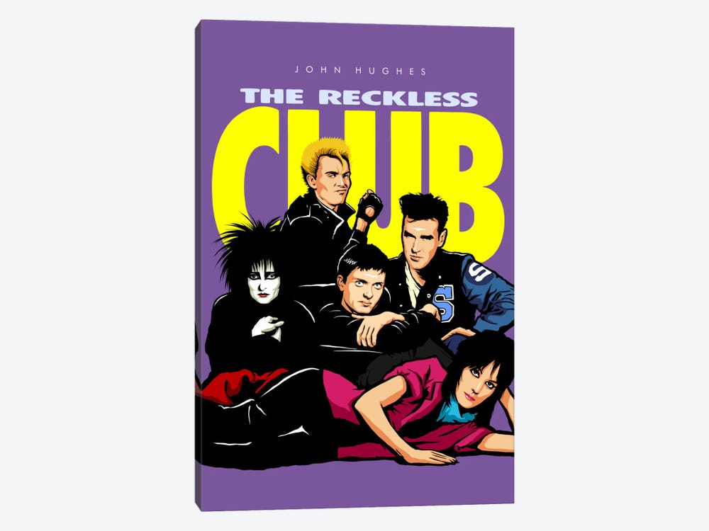 The Reckless Club 1-piece Canvas Art Print