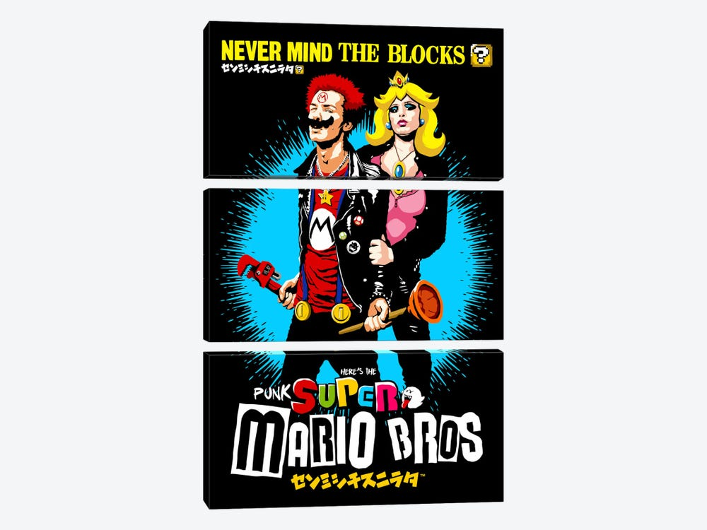The Sid And Nancy Nintendo Lost Levels by Butcher Billy 3-piece Canvas Artwork