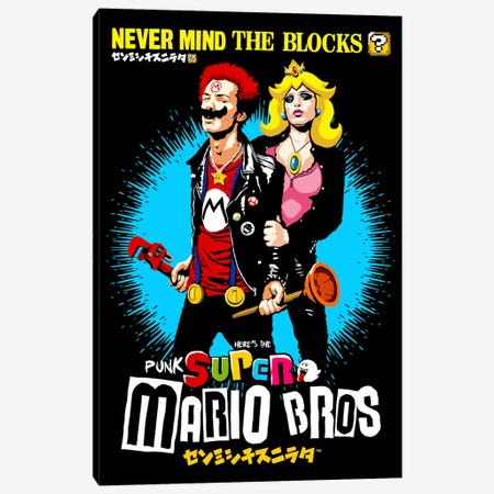 The Sid And Nancy Nintendo Lost Levels Canvas Print #BBY85} by Butcher Billy Canvas Wall Art