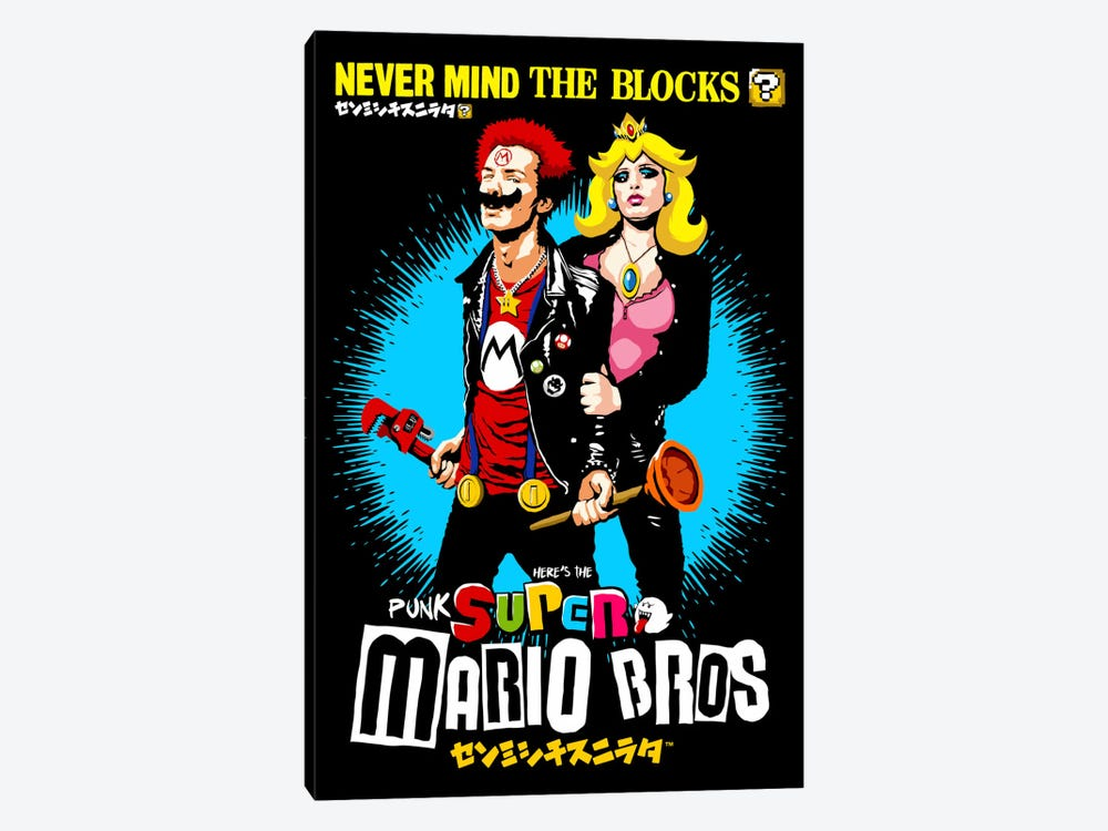 The Sid And Nancy Nintendo Lost Levels by Butcher Billy 1-piece Canvas Wall Art