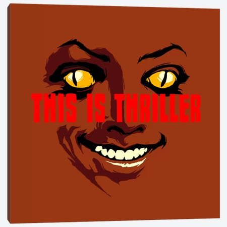 This Is Thriller - Part 1 Canvas Print #BBY88} by Butcher Billy Art Print