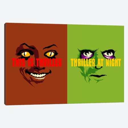 This Is Thriller Double Feature Canvas Print #BBY90} by Butcher Billy Canvas Wall Art